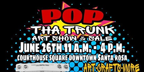 Pop Tha Trunk Art Show & Sale $17 per booth tickets