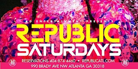 REPUBLIC SATURDAYS.... THIS SATURDAY JUNE 19TH tickets