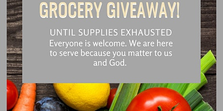 Grocery Giveaway, Community Pantry, and Prayer tickets
