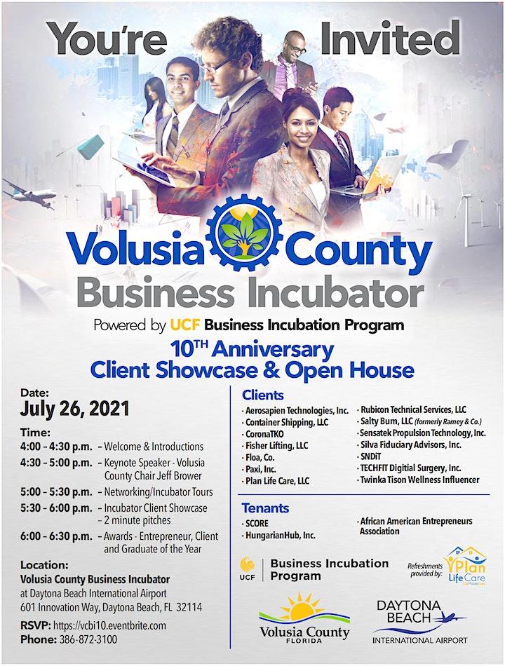 Volusia County Business Incubator  10th Anniversary Client Showcase & Open image