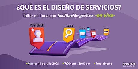 ¿Qué es el diseño de servicios?  Taller en línea boletos