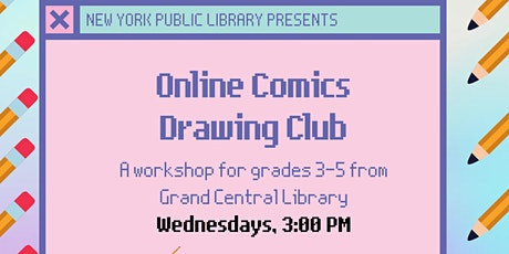 Online Comics Drawing Club for Grades 3-5: Drawing To Music tickets