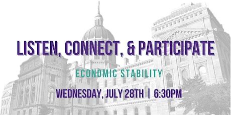 Listen, Connect, & Participate: Economic Stability tickets