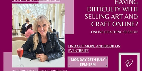 Overwhelmed with selling art and craft online ? Destress and get set up tickets