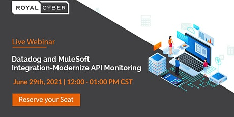 Webinar: Datadog and MuleSoft Integration- Modernize API Monitoring tickets