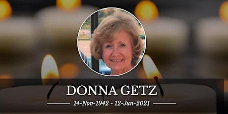 Visitation & Service for Donna Getz billets