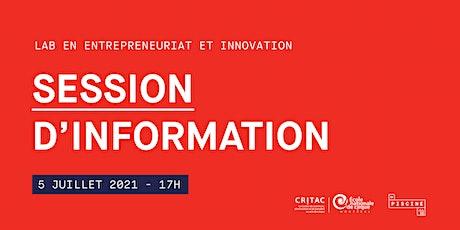 Lab 2021 – Session d'information virtuelle billets