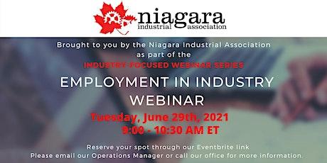 NIA Webinar - Employment in Industry tickets