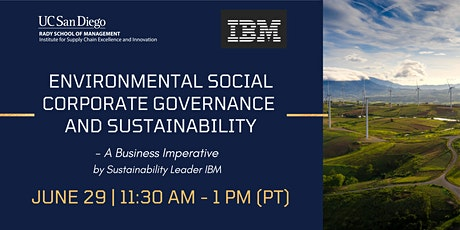 Environmental Social Corporate Governance and Sustainability tickets