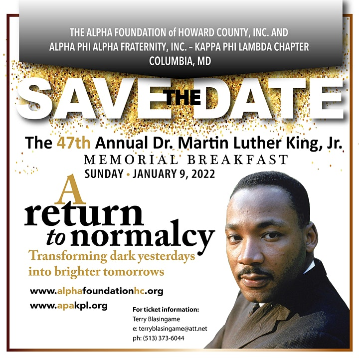 47th Annual Dr. Martin Luther King, Jr. Memorial Breakfast! image