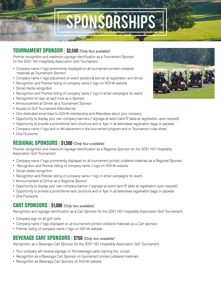 NDHA 22nd Annual Golf Scramble image