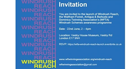 Windrush Reach Launch Event tickets