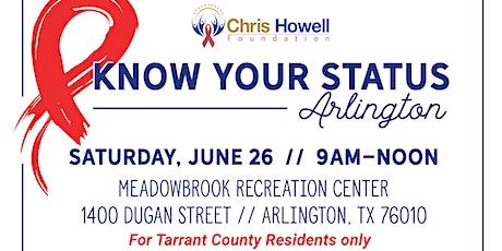 Know Your Status Arlington tickets