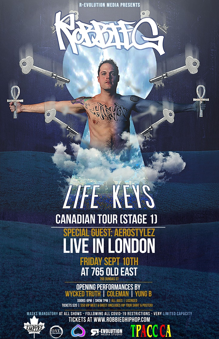 Robbie G live in London Sept 10th at 765 Old East Bar image