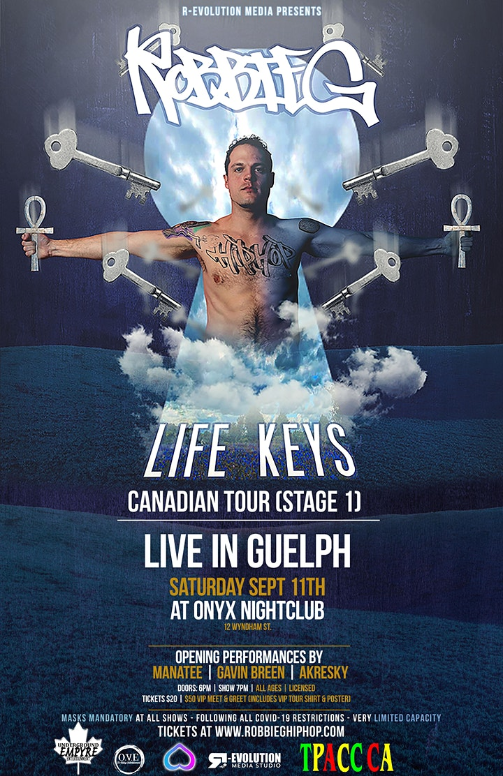 Robbie G live in Guelph Sept 11th at Onyx Nightclub image