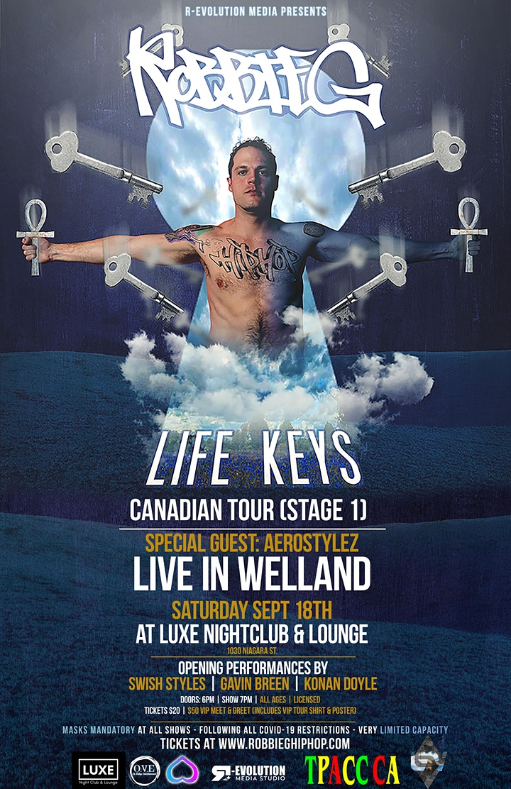 Robbie G live in Welland Sept 18th at Luxe Nightclub & Lounge image
