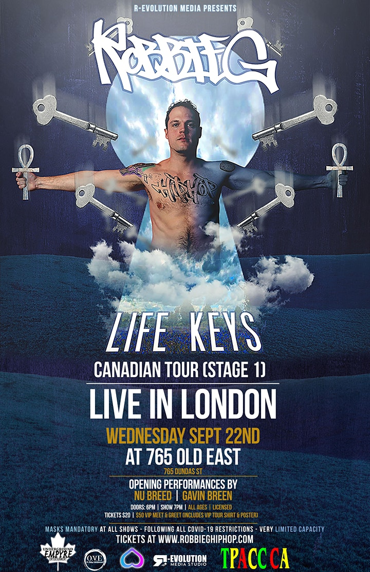 Robbie G live in London Sept 22nd at 765 Old East Bar image