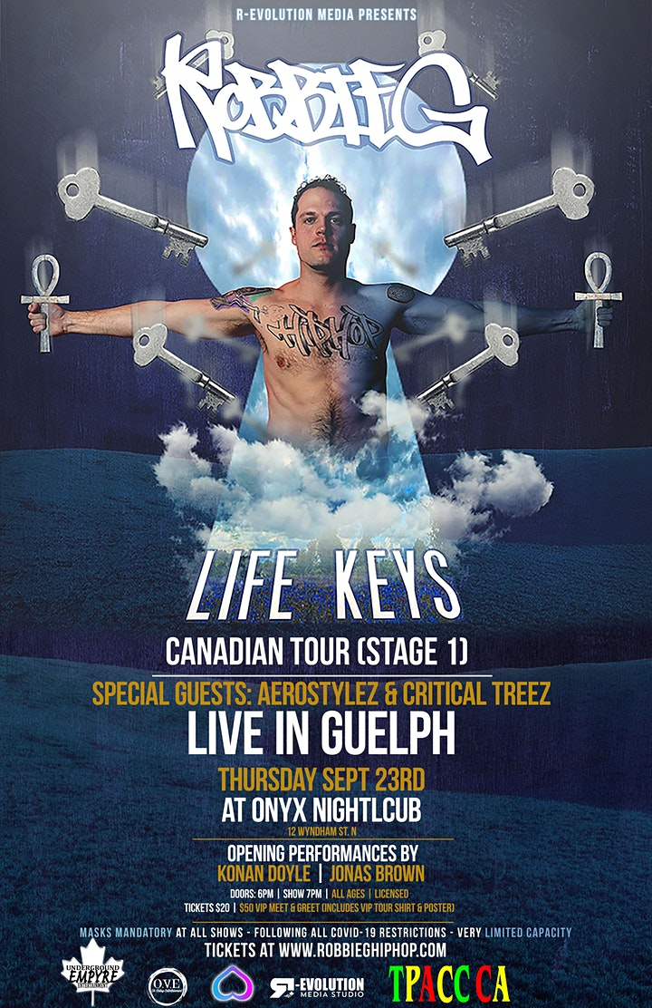 Robbie G live in Guelph Sept 23rd at Onyx Nightclub image