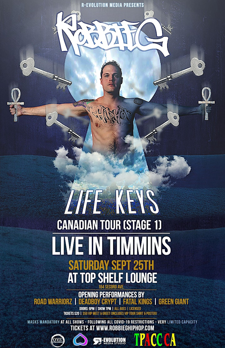 Robbie G live in Timmins Sept 25th at Top Shelf Lounge image