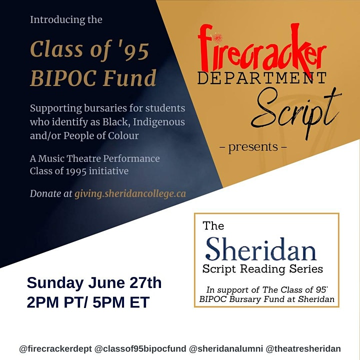 Firecracker Script Department Presents: The Sheridan Script Reading Series image