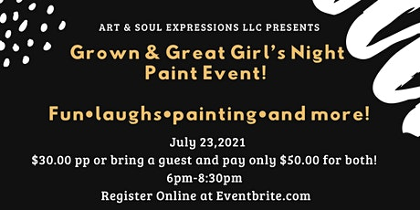 Grown & Great Girl's Night Paint Party tickets