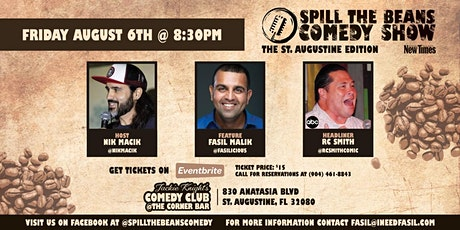 Spill The Beans Comedy Show- The St. Augustine Edition tickets
