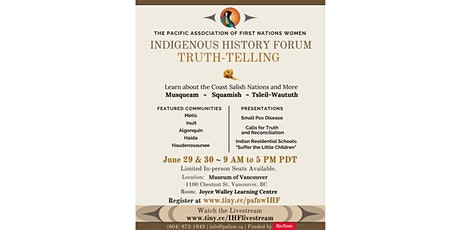 Indigenous History Forum: Truth-Telling tickets