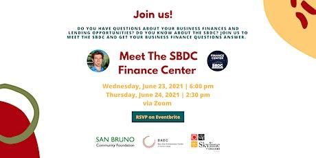 Meet The SBDC Finance Center Lending Specialist tickets