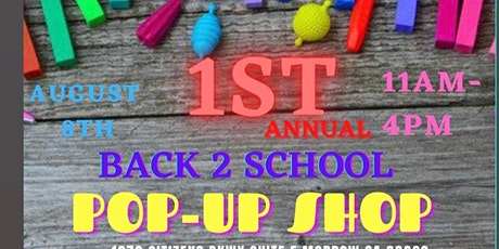 Back to School POP-UP Shop tickets