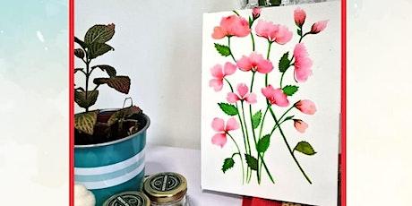 Watercolour Florals workshop Online tickets