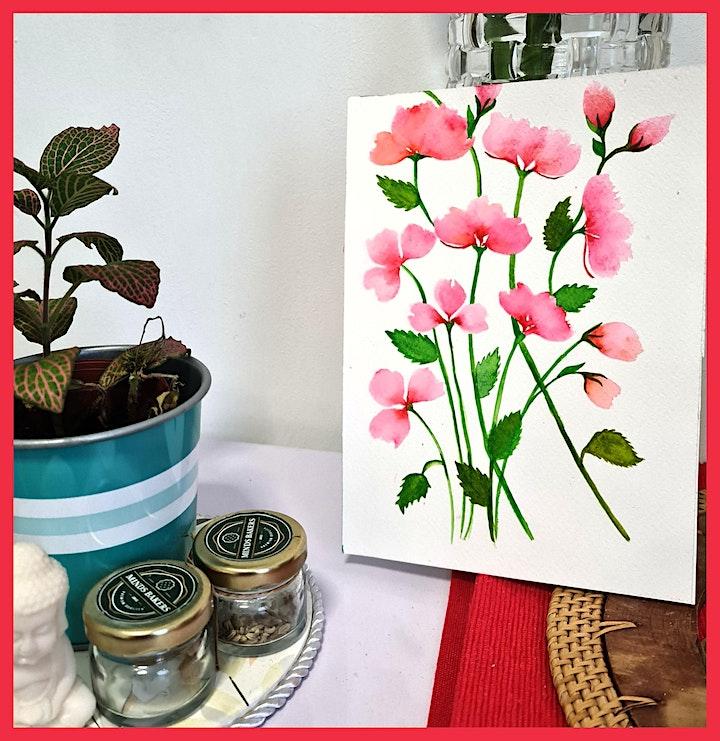 Watercolour Florals workshop (Physical) image