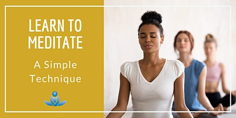 Learn to Meditate: A Simple Technique tickets
