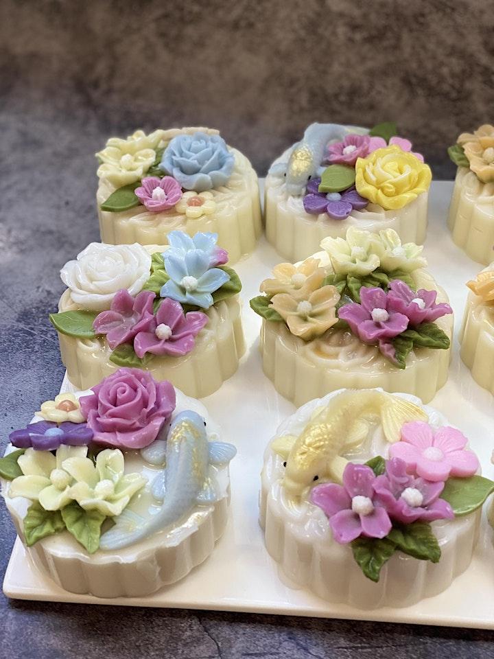 3D Floral Agar Agar Mooncake image