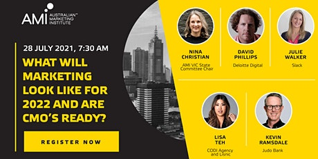 What will marketing look like for 2022 and are CMO's ready? Breakfast Event tickets