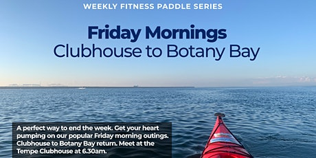 Friday morning fitness paddle - experience require tickets