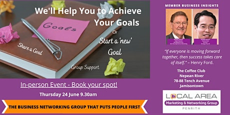 Penrith: Reach a Goal by Sharing it! Bring Yours or Let us Help Craft it! tickets