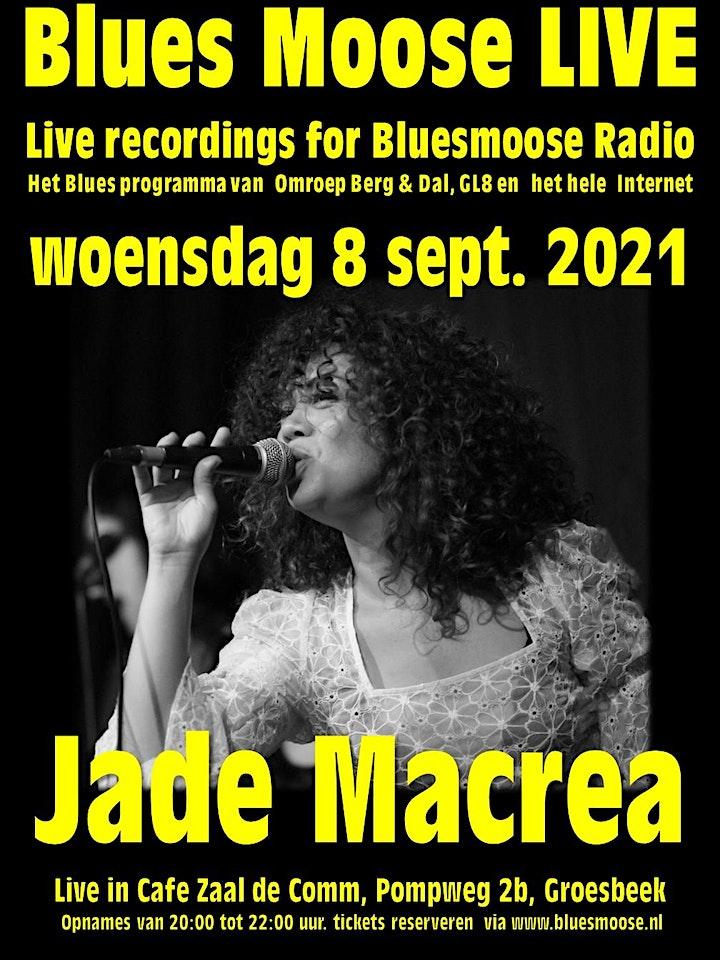 Afbeelding van Jade Macrea live at Bluesmoose Radio (€15,00  betaal aan kassa)