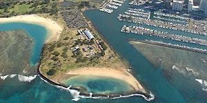 Magic Island Beach Park Clean Up with Waikiki Aquarium