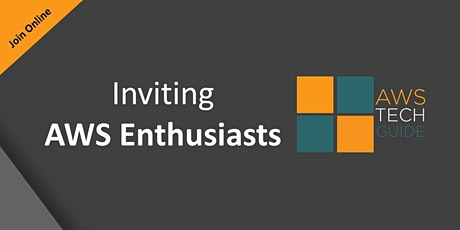 Inviting AWS Enthusiasts tickets