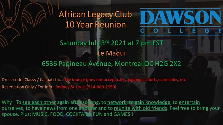 African Legacy 10 Year Reunion image