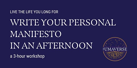 Write Your Personal Manifesto in an Afternoon tickets