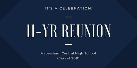Habersham Central High School Class of 2010 Reunion tickets