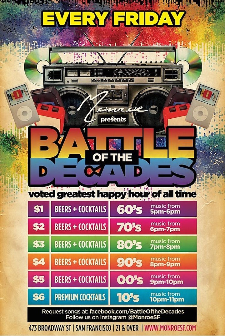 Battle of the Decades : 60s 70s 80s 90s Dance Party image