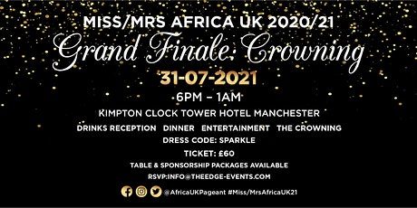 Miss/Mrs Africa 2021 Crowning & Grand Finale tickets