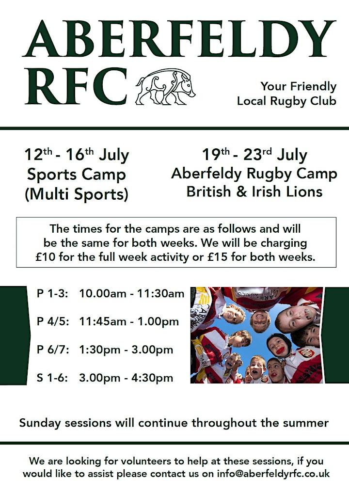 Aberfeldy RFC Multi Sports Week - 12th-16th July image