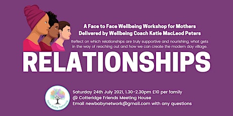 Relationships - A Wellbeing Workshop for Mothers tickets