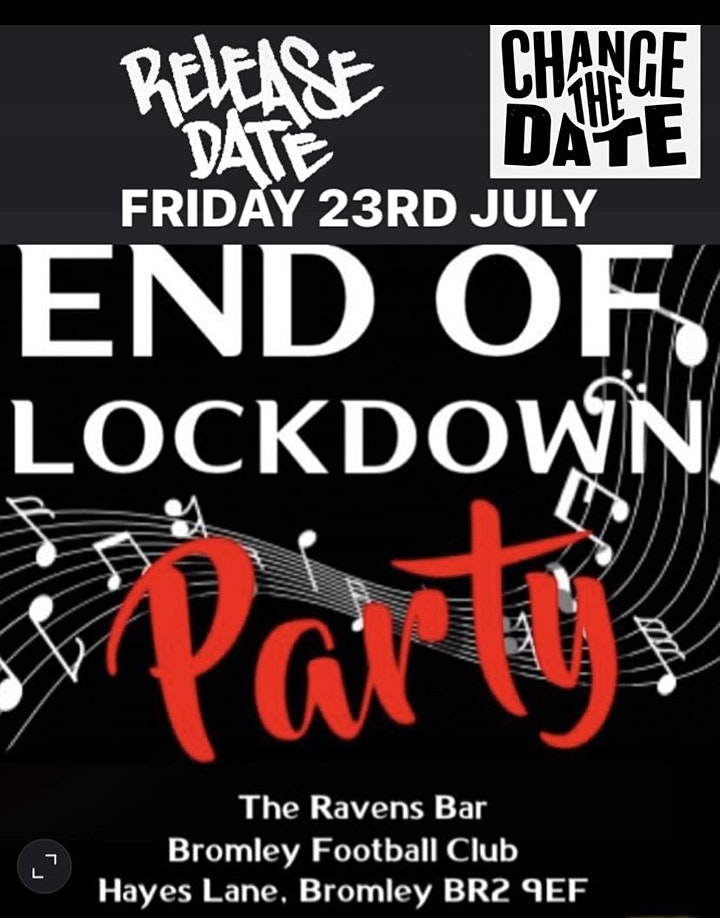 End of Lockdown party Over 30s Night image