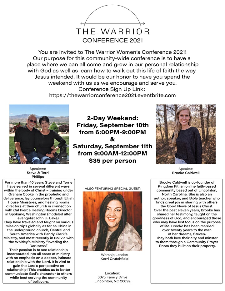The Warrior Women's Conference 2021 image