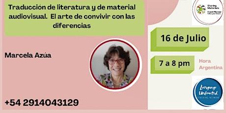 Traducción de literatura y de material audiovisual por Marcela Azúa entradas