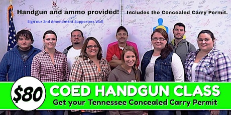 Coed Fundamental Handgun Class  with Concealed Carry Permit tickets